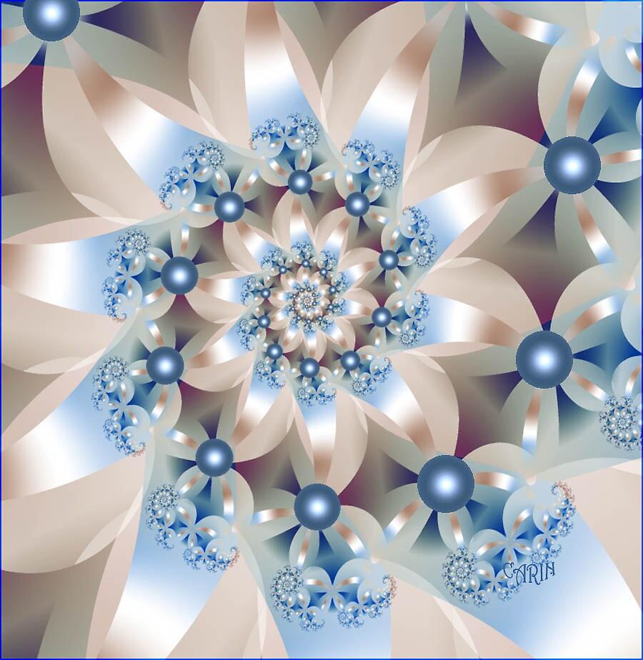 Modern flowerspiral by FractaliaNo1