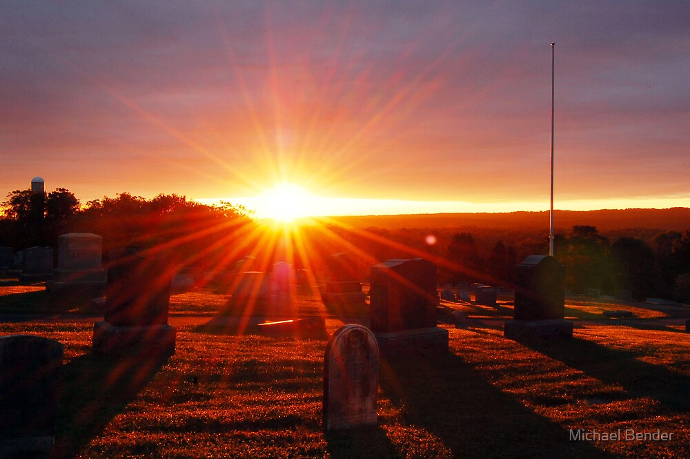 Cemetery Sunrise by Michael Bender