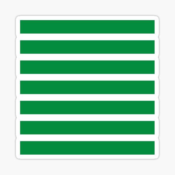 Bold Green and White Stripes  Sticker