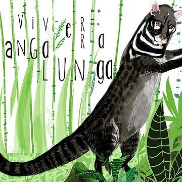 Civets: Tangalunga (Viverra tangalunga) by belettelepink