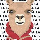 Fa La La La Llama Christmas by CafePretzel