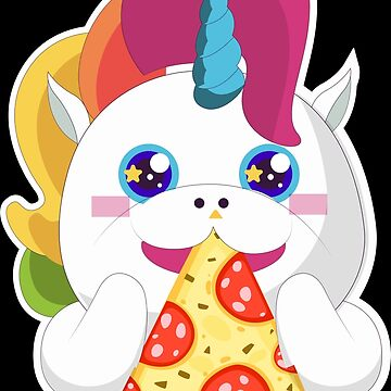 Unicorn is eating pizza by IchliebeT-Shirt