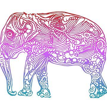 Mandala Inspired Graphic Elephant by ShikitaMakes