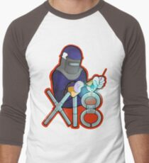 x 18 Pipe Welder Red Men's Baseball ¾ T-Shirt