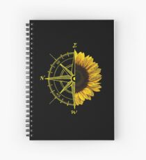 East is up Spiral Notebook