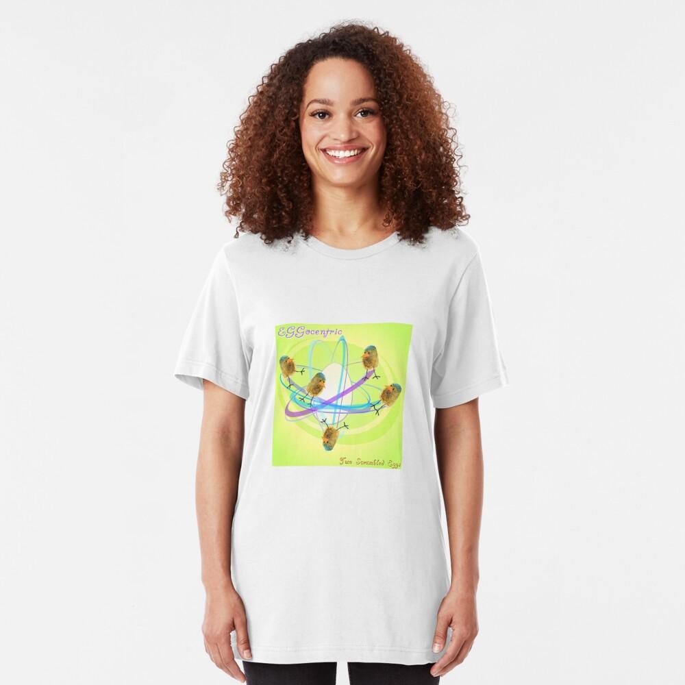 Two Scrambled Eggs - EGGocentric Slim Fit T-Shirt