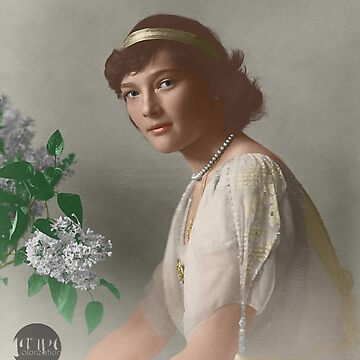 Tatiana Nikolaevna -1914 formal portrait colorized by Laurynsworld