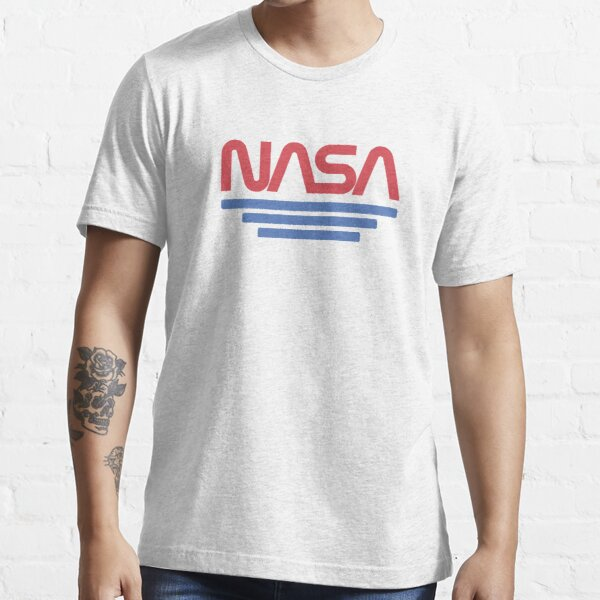 Vintage Nasa Worm Logo Red - Awesome Retro Space Essential T-Shirt