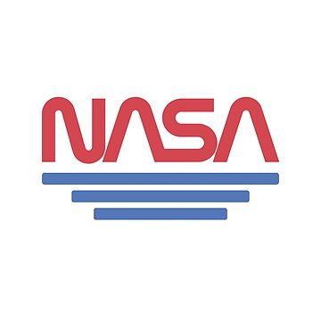 Vintage Nasa Worm Logo Red - Awesome Retro Space by RaveRebel