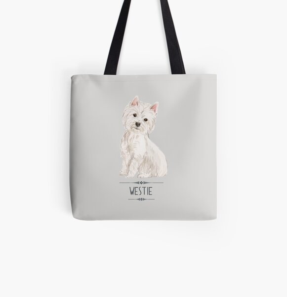 Westie - West Highland White Terrier All Over Print Tote Bag