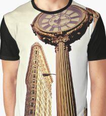 Camiseta gráfica Flatiron Building and 5th Avenue Clock - New York City