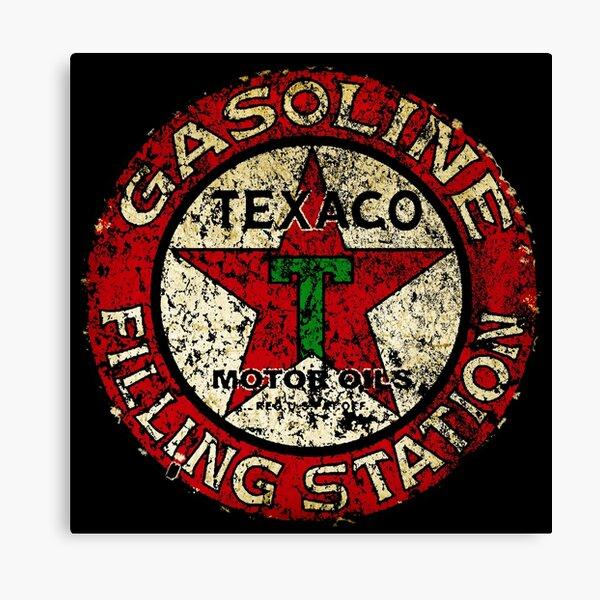 Vintage Texaco Zeichen USA Leinwanddruck