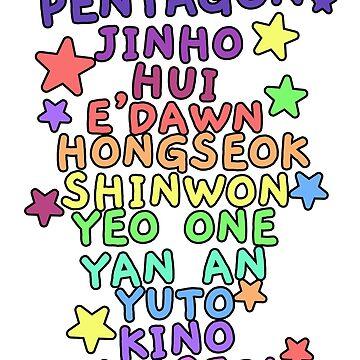 pentagon kpop by shannonpaints
