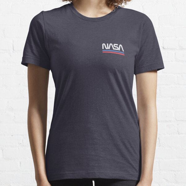 Cute Retro Breast Nasa Pocket - Space Worm Logo Essential T-Shirt
