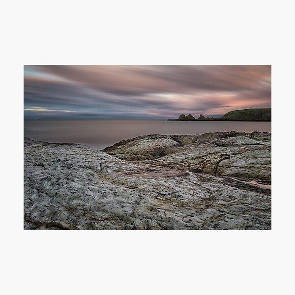 Portmuck Sunset Photographic Print
