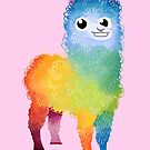 Rainbow llama pink by skrich