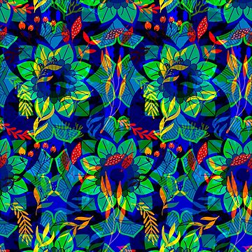Balinese Tropical Abstract by lushkingdom