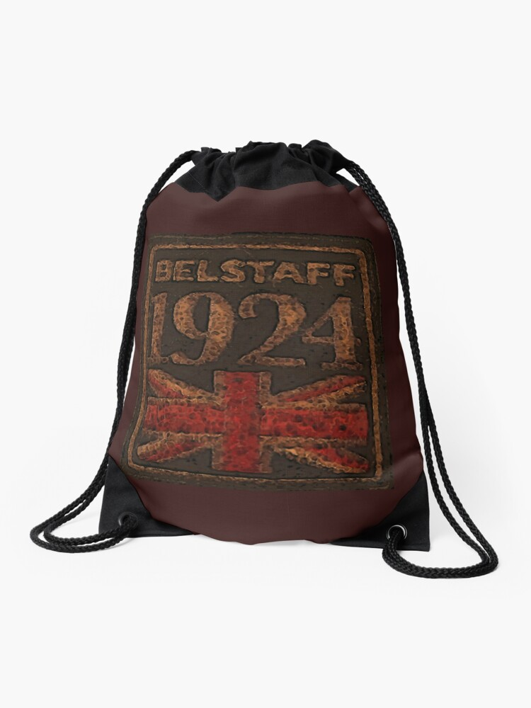 Drawstring Backpack British Hearts Union Jack Red Shoulder Bags