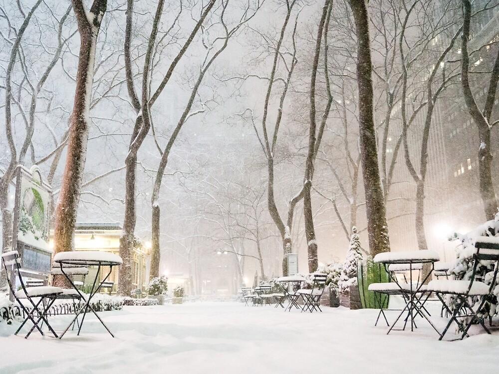 Winter Wonderland - Bryant Park - New York City by Vivienne Gucwa