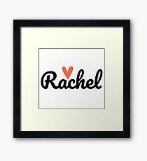 Rachel ♥ Framed Print