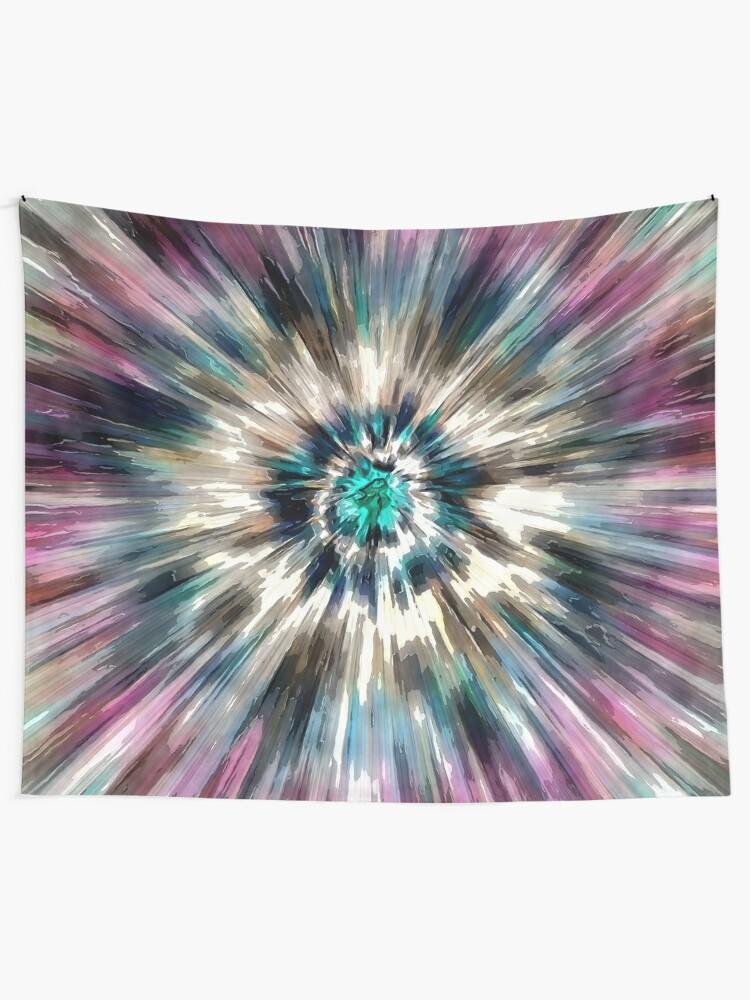 Alternate view of Starburst Tie Dye Tapestry
