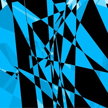 Blue and black abstract design  by JohnyZero