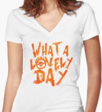 What a Lovely Day - Max Women's Fitted V-Neck T-Shirt