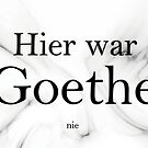 Goethe was never here by PCollection