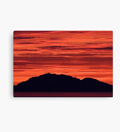 Sunset in Parallel Canvas Print
