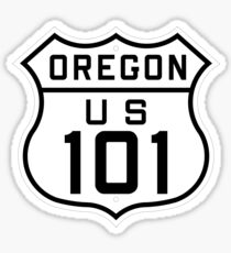 US Route 101 (Oregon) 1926 Cutout Edition Sticker