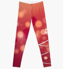 Fir tree on a red background Leggings