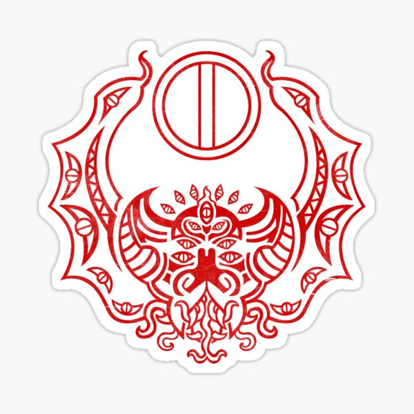 The Crimson Bat Steed of the Red Goddess by Kalin Kadiev Sticker