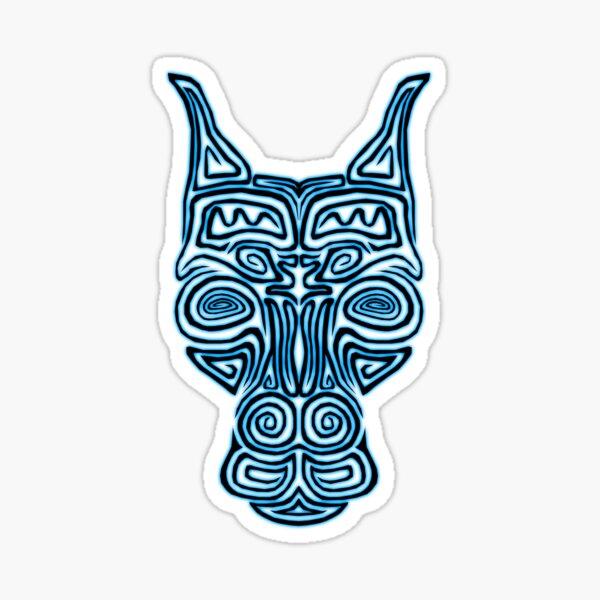 Tribal Pinscher Sticker