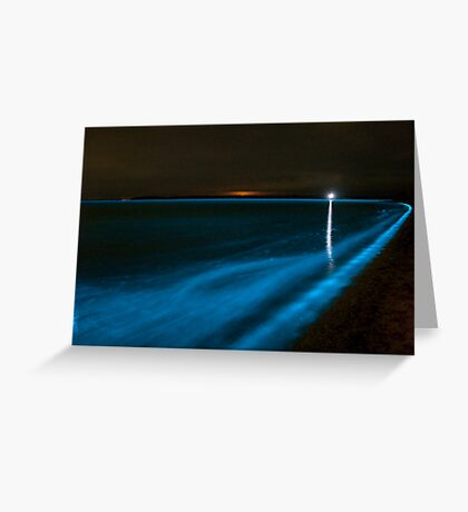 Bioluminescence on the Beach Greeting Card