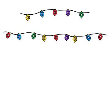 Merry Christmas - Merry Christmas Fairy Lights by Shirt-Expert