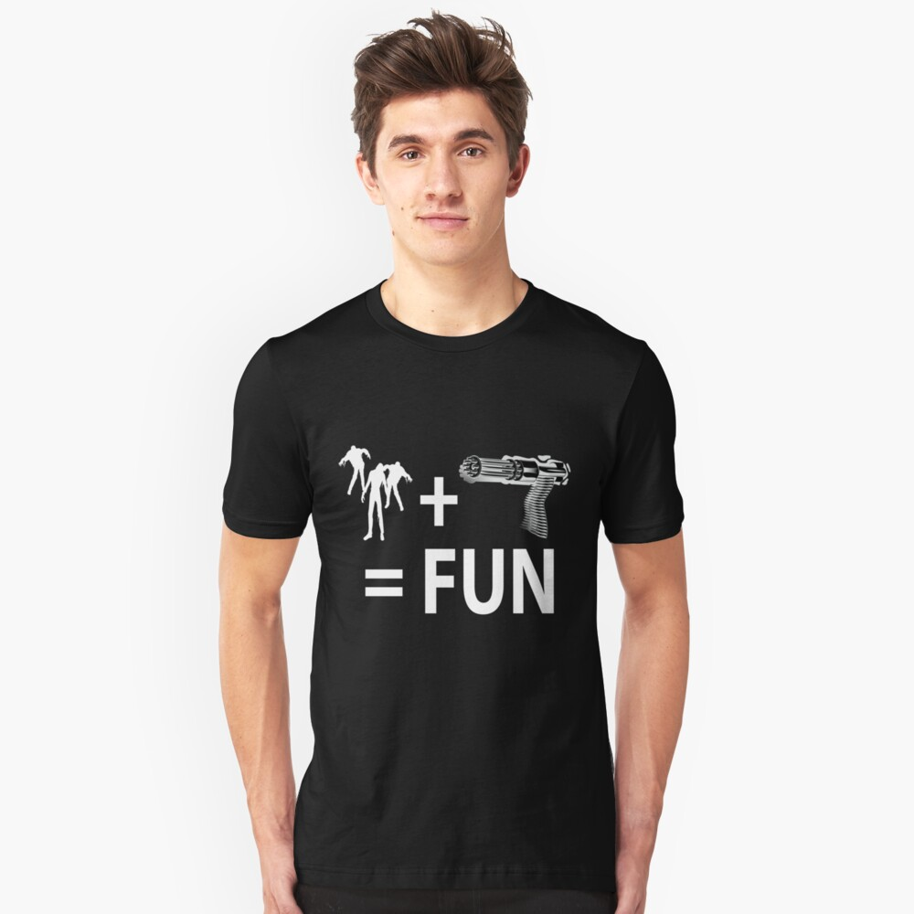 Zombie fun for Black shirts  Unisex T-Shirt Front