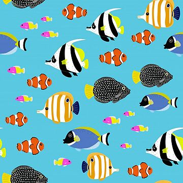 Bright Colorful Fish by pugmom4