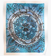 Acrylic Doodle Pattern Poster
