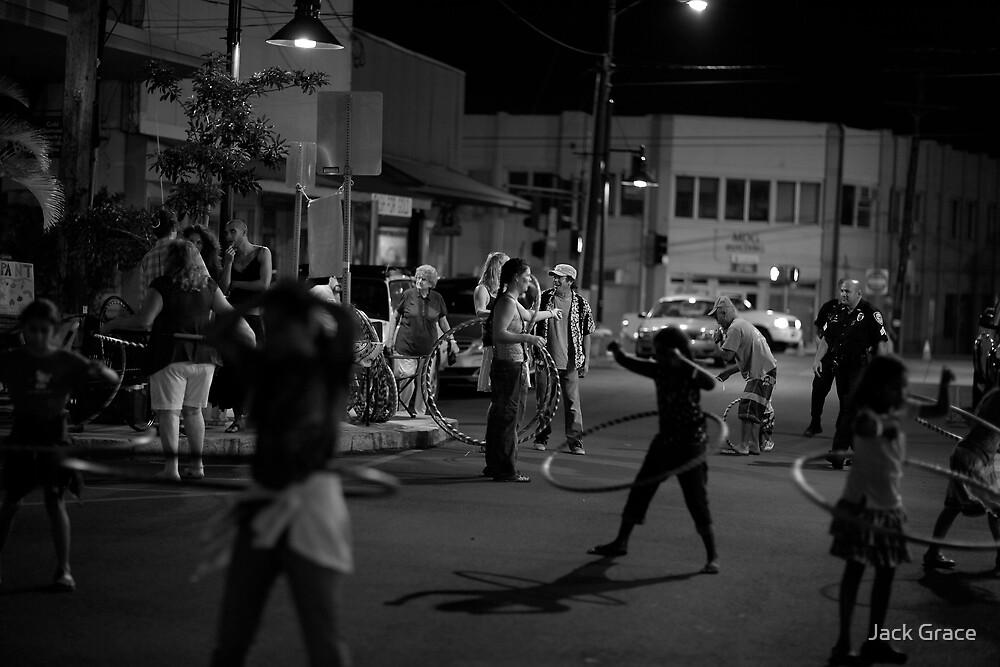 Wailuku town Friday night by Jack Grace