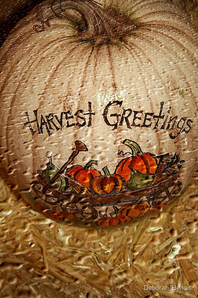 Harvest Greetings by Deborah  Benoit
