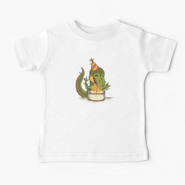 Happy Dinosaur Birthday Baby T-Shirt