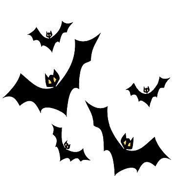 Spooky flying Halloween Bats  by Paradisessntl