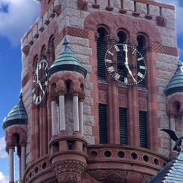 Ellis County Courthouse Clock Tower by iluvmyragdolls