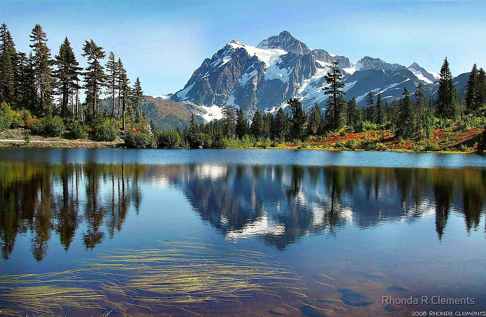Picture Lake @ Mt Shuksan, Washington State by Rhonda R Clements