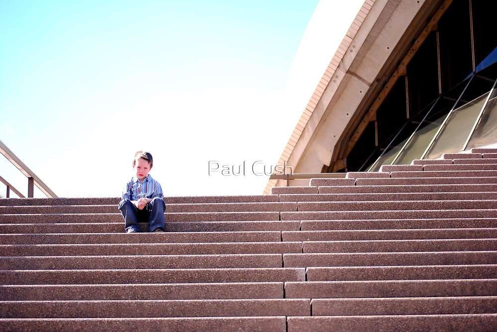 Boy on the Steps by Paul Cush