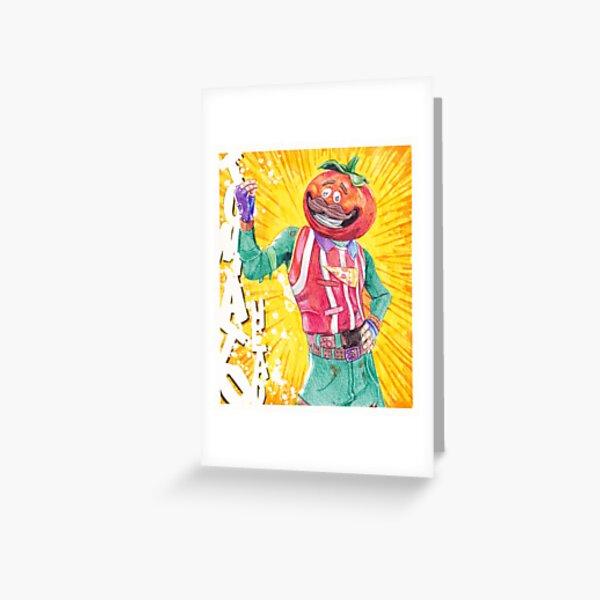 TOMATO HEAD Greeting Card