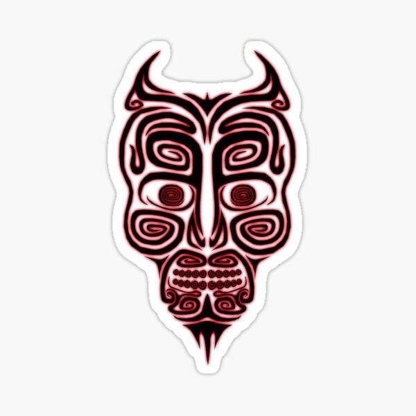 Tribal Demon Sticker