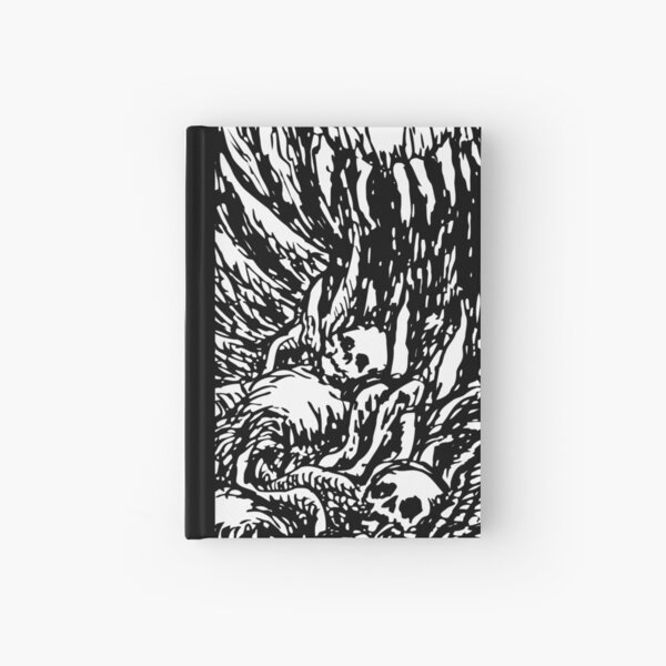 Disgusting Death Monster The Forgotten Skeleton Metal By KRAFTD Hardcover Journal