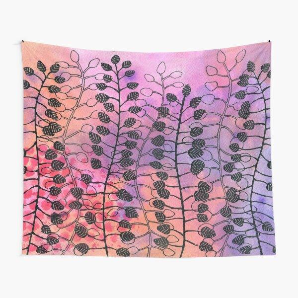 Blätterwald im Morgenrot Wandbehang