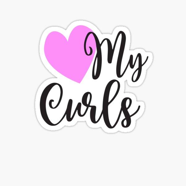 Love My Curls | Natural Hair Pride Sticker